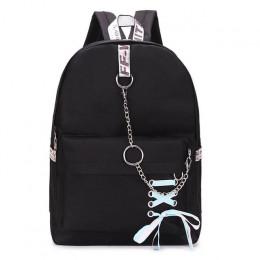 Klasyczny duży plecak młodzieżowy damski szkolny pakowny turystyczny miejski ładny czarny różowy czerwony
