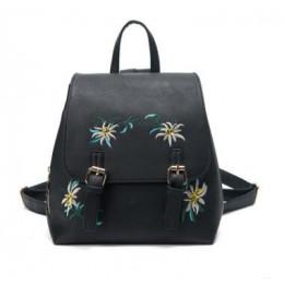 DIDA niedźwiedź marki kobiety skórzane plecaki torby szkolne dla dziewczyn plecak małe kwiatowe hafty kwiaty Bagpack Mochila