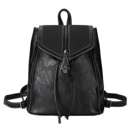 Vintage matowy skóry kobiet plecaki wysokiej jakości wielofunkcyjny torba na ramię kobiece dziewczyny plecak Retro tornister XA5