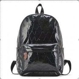 Duże torby podróżne plecak laserowy kobiety mężczyźni dziewczyny torba PU skóra holograficzny plecak torby szkolne dla moda dla