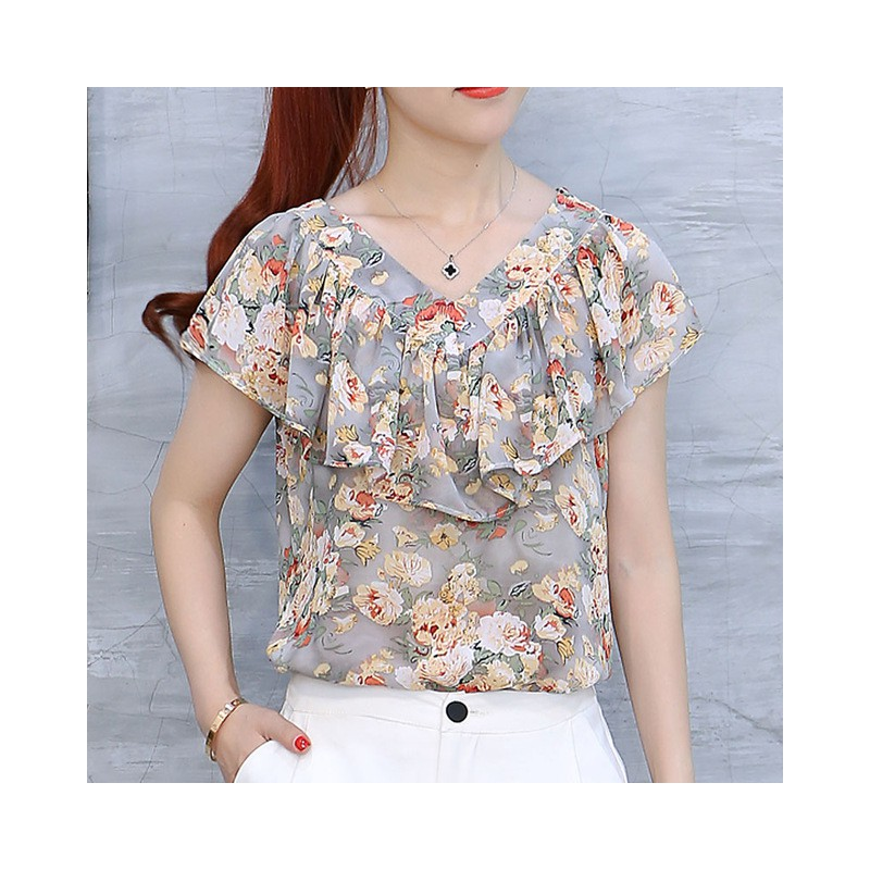 2018 moda lato bluzki damskie koszule Plus rozmiar topy w  tXzQl