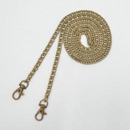 120 cm metalowy łańcuszek do torebki torby na ramię pasek elegancki złoty żółty srebrny brązowy