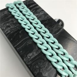 Modny elegancki kolorowy ozdobny pasek do torebki z żywicy akrylowej w formie łańcucha długi na ramię krótki do ręki