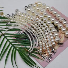 MM FOND Faux pearl zroszony projekt kobiety torebka długość paska można dostosować ładna pani torba na ramię pasy dwa rozmiary m