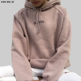 OH YES2017 nowych moda sztruks długie rękawy list Harajuku druku dziewczyna jasny różowy swetry topy O-neck kobieta bluza z kapt