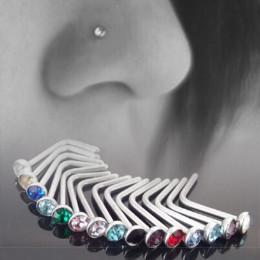 10 sztuk w stylu Punk Piercing nos wargi biżuteria ciało biżuteria dla mężczyzn kobiety szpilki 1.8mm Pick Drop Shipping