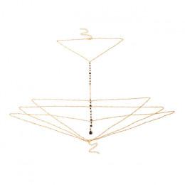 IngeSight. Z proste Style łańcuch naszyjnik brzuch ciało łańcuch moda Sexy miedzi cekiny łańcuch nadwozia/Belly Chain biżuteria