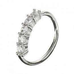 Shellhard Trendy 5 kryształy nos pierścień Vintage Rhinestone ze stali nierdzewnej kółko do nosa dla kobiet Femme biżuteria Bijo