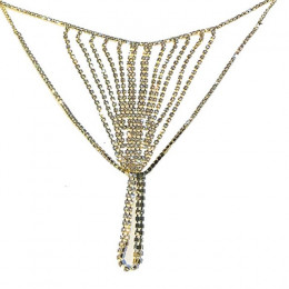 StoneFans Rhinestone błyszczące Sexy biżuteria dla kobiet majtki stringi słodkie prezent na Boże Narodzenie talia łańcuch ciało