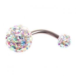 JOCESTY 1 sztuk kryształ Rhinestone kobieta pierścień do pępka Piercing chirurgiczne stali nierdzewnej bardzo Piercing brzucha k