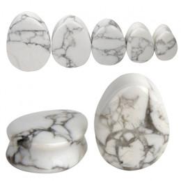 2 sztuk moda kamień łzy zatyczki do uszu tunel kolczyki zatyczki kolczyk wskaźniki ucha ekspandery nosze podłącz ucha Body pierc