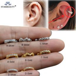 1pc nowy CABI Piercing Tragus chrząstka pierścień Helix biżuteria Labret Piericngs 0.8x8mm tytanu wieża płata Piercing ciało biż