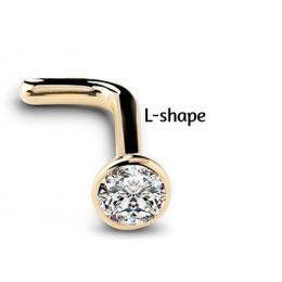 1 Pc 20G 1.5/2/2.5/3mm cyrkon Gem kości nos stadniny kolczyk anodowane różowe złoto kolor nos pierścień Prong CZ biżuteria nos 2