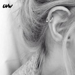 UVW037 1 pc Trendy ze stali chirurgicznej w kształcie litery C segmentu Tragus fałszywe przegrody nosa pierścienie stadniny Heli