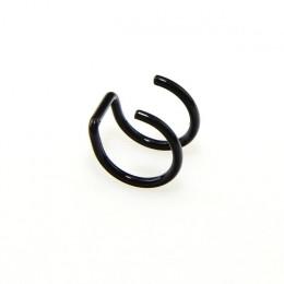 1 sztuk klip na Wrap kolczyk kolczyk ze stali nierdzewnej 2 pierścienie Ear Cuff klip kolczyk w nosie fałszywy Piercing ciało bi
