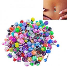 30 sztuk/zestaw kolorowe Sexy Belly barów Body Piercing pierścionek pępka brzana biżuteria wargi Piercing Unisex moda biżuteria