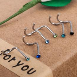 10 sztuk w stylu Punk Piercing nos wargi biżuteria ciało biżuteria dla mężczyzn kobiety szpilki 2mm wybierz darmowa wysyłka