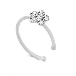 1Pc moda ze stali nierdzewnej kryształ Rhinestone kolczyk w nosie Hoop okrągłe Piercing nos pierścienie kolczyk przekłuwanie usz