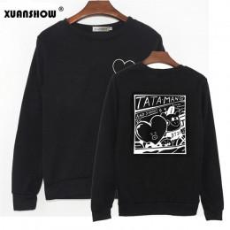 XUANSHOW 2019 Unisex bluzy Kpop klub mody bluzy z kapturem z polaru bluza Harajuku Moletom Plus rozmiar S-5XL