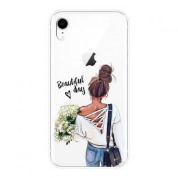 Dla iPhone 6 S 6 S 7 8 X XR XS Max silikonowy czarny dziewczyna dziecko kobiety mama miękkie pokrywa dla Apple iPhone 8 7 6 S 6