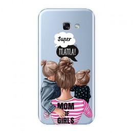 Stylowe silikonowe etui na telefon ozdobna grafika przedstawiająca mamę z dzieckiem ochronne pokrowce na smartphony