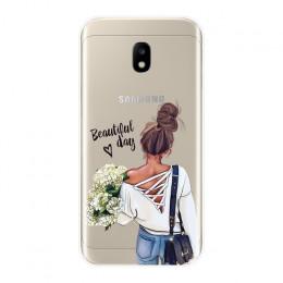 TPU Case do Samsung Galaxy J2 J5 J7 Prime J3 J5 J7 2015 2016 2017 dziewczyna dziecko kobiety mama pokrywa kılıf na Samsung J4 J6