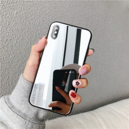 Luksusowe pełne lustro silikonowe etui do iphone 7 8 6 6S Plus X 10 xr XS MAX Bling Bling poszycia miękka TPU spadek dowód skrzy
