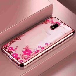 3D diament kwiatowy wzór skrzynka dla Samsung Galaxy Note 10 Pro A90 A80 A70 A60 A50 A40 A30 A20 A10 m30 M20 M10 miękkie etui z