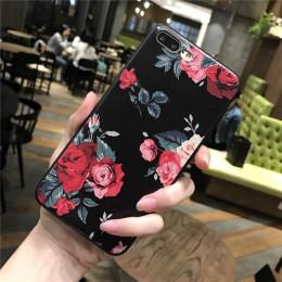 Różowy biała róża kwiat silikonowe całego ciała etui do iPhone 8 7 6 6 s 5 5S Case miękka obudowa telefoniczna tylna pokrywa dla