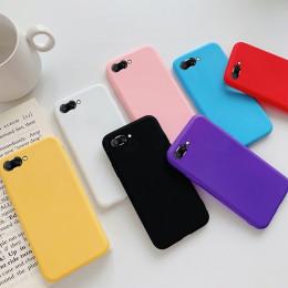 Cukierki kolor miękki silikonowy etui na Huawei P20 Pro P10 P9 P8 Lite 2017 Mate 10 honor 8 9 Lite P inteligentny Y9 tylna obudo