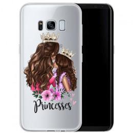 Moda czarny brązowy włosy dziecko mama dziewczyna królowa 01 etui do Samsung Galaxy 2016 2017 A3 A5 A7 J3 J5 j7 silikonowe kobie