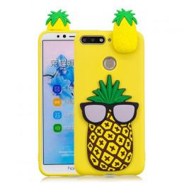 Etui na telefon oryginalne silikonowe gumowe w ananasy pandy czarne żółte różowe