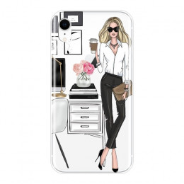 Etui na telefony dla iPhone X XR XS MAX 8 7 6 S 6 S miękkiego silikonu dziewczyna szefem różowy kobiet cartoon tylna pokrywa dla