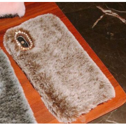 Kuutti Squishy luksusowe puszyste Furry pluszowe futro różowy etui na telefony komórkowe dla iPhone 6 6s 7 8 Plus X XR XS Max Sm