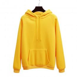 Zuolunouba 2018 zima dorywczo polar kobiety bluzy z kapturem bluzy z kapturem z długim rękawem żółta dziewczyna swetry luźne z k