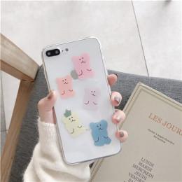 Kindy niedźwiedź kobiety etui na iPhone 6s 8 7plus słodki miś miękkie etui z termoplastycznego poliuretanu dla iPhone 7 8 plus,