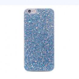 Stylowe etui do telefonu transparentne zdobione grubą warstwą połyskujące brokatu ozdobny pokrowiec modny futerał