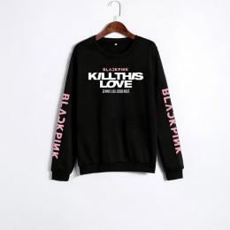 XUANSHOW Unisex miłośników ubrania koreański BLACKPINK zabij ten miłość Album litery bluza Man kobieta sweterek Sudadera Mujer