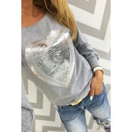 Rogi damskie bluzy z kapturem 2019 moda z długim rękawem kobiet bluza sweter piękny Sequined serca swetry z kapturem Lady bluzy
