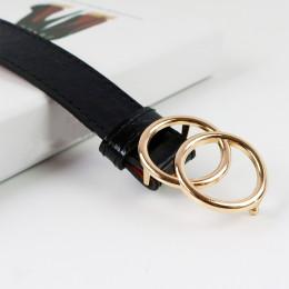 Kobiet miękkie Faux Leather podwójny pierścień klamra rocznika dekoracyjne na co dzień dokręcić cały mecz lekki długi kobiety pa