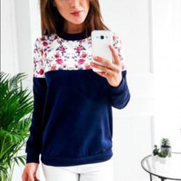 Kobiety sweter 2019 jesień dziewczyny bluza z kapturem z nadrukiem bluza z kapturem na co dzień O-neck z długim rękawem bluzy z