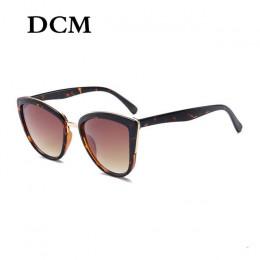 DCM Cateye okulary kobiety w stylu Vintage gradientu okulary Retro Cat eye okulary przeciwsłoneczne okulary damskie UV400