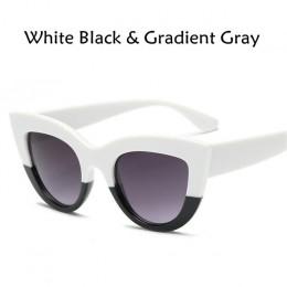 2018 nowy Cat Eye okulary przeciwsłoneczne damskie kolorowe soczewki mężczyźni w kształcie Vintage okulary przeciwsłoneczne okul