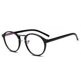 Moda przejrzyste okrągłe okulary przezroczysta oprawa kobiety spektakl okulary dla osób z krótkowzrocznością oprawka do męskich