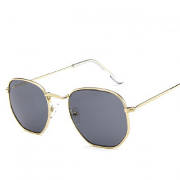 Moda okulary przeciwsłoneczne damskie marka projektant mała ramka wielokąta ramki do okularów i okularów słonecznych mężczyźni w