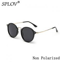New Arrival okrągłe okulary przeciwsłoneczne powłoka Retro mężczyźni kobiety marka projektant okulary przeciwsłoneczne w stylu V