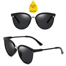 LeonLion cukierki marka projektant okulary Cat Eye kobiety luksusowe plastikowe okulary przeciwsłoneczne klasyczne Retro na zewn