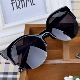 Óculos De Sol Feminino 2016 nowych moda Retro projektant Super okrągłe koło okulary Cat Eye okulary przeciwsłoneczne damskie oku