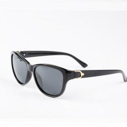 2019 luksusowa marka projekt kociego oka spolaryzowane okulary przeciwsłoneczne damskie Lady eleganckie okulary przeciwsłoneczne