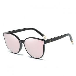 2019 moda kolor luksusowe Flat Top Cat Eye kobiety okulary eleganckie óculos de sol mężczyźni Twin wiązki ponadgabarytowych okul